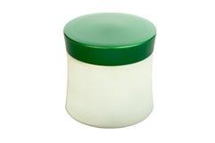 Envase poner crema cosmético Fotos de archivo libres de regalías