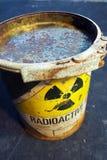 Envase radiactivo Fotos de archivo