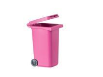 Envase rosado de la basura Fotografía de archivo libre de regalías