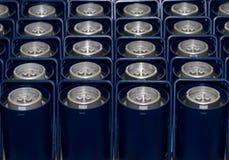 Envases azules Fotos de archivo