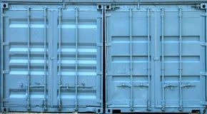 Envases azules del metal Fotografía de archivo libre de regalías