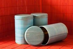 Envases de alimento Foto de archivo libre de regalías