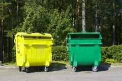 Envases de la basura Fotografía de archivo