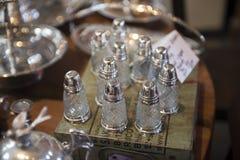 Envases de la sal Imagen de archivo libre de regalías