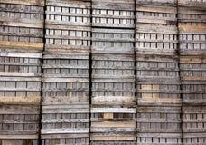 Envases de madera Imágenes de archivo libres de regalías