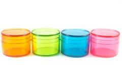 Envases de plástico  Imagen de archivo libre de regalías
