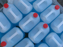 Envases de plástico Fotos de archivo