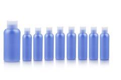 Envases de plástico azules Fotografía de archivo libre de regalías
