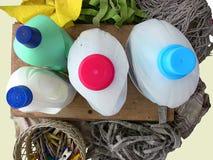 Envases de plástico desde arriba fotos de archivo libres de regalías