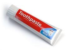 Envases de Ttoothpaste en fondo aislado blanco Imagenes de archivo