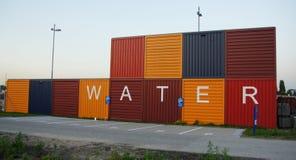 Envases del agua en Amsterdam Imagenes de archivo