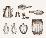Envases para las bebidas Imagenes de archivo