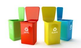 Envases para reciclar Fotos de archivo libres de regalías