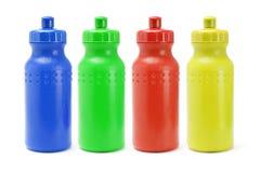 Envases plásticos del agua Imagenes de archivo