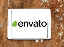 Envato company logo. Logo of Envato company on samsung tablet. Envato operates a group of digital marketplaces that sell creative assets for web designers Stock Photography