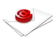 Envelop@. Conceptual representation of email and communication matters Stock Photos