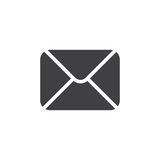 Envelop Black Icon Stock Image