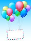 Envelop die door de lucht vliegen stock illustratie