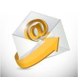 Envelop e-mail. contacteer ons illustratie Royalty-vrije Stock Fotografie