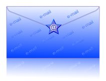 Envelop and email symbol. Email symbol and envelop - computer generated clipart royalty free illustration