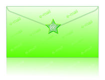 Envelop and email symbol. Email symbol and envelop - computer generated clipart Royalty Free Stock Images