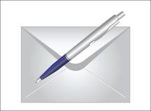 Envelop en pen royalty-vrije illustratie