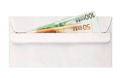 Envelop with euros Stock Image