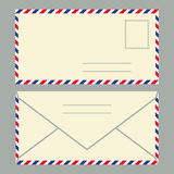 Envelop Face And Back Stock Photo