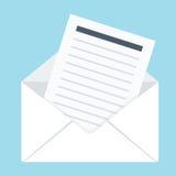 Envelop met brief stock illustratie