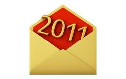 Envelop met datum van 2011 Stock Afbeeldingen