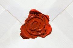 Envelop met E-mailteken Stock Afbeelding