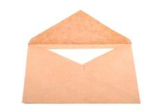 envelop met een geïsoleerde brief Stock Foto