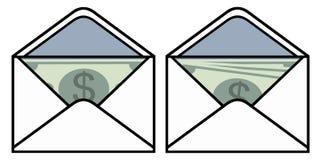 Envelop met geld stock illustratie