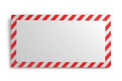 Envelop met gestreept die kader op witte achtergrond wordt geïsoleerd 3d ren Royalty-vrije Stock Afbeeldingen