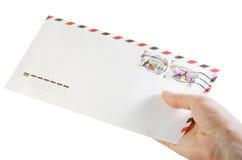 Envelop met in hand zegels Stock Afbeelding
