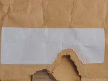 Envelop met leeg etiket stock fotografie