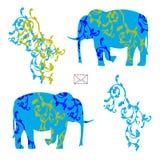 Envelop met olifanten Royalty-vrije Stock Foto
