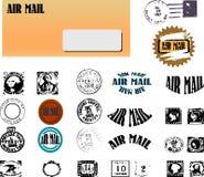 Envelop met verschillende zegels Royalty-vrije Stock Fotografie