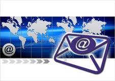 Envelop met wereldkaart Royalty-vrije Stock Afbeeldingen