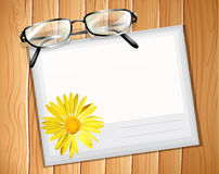 Envelop. With a pair of spectacles stock illustration