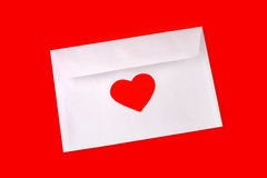 Envelop with red heart royalty free stock photography