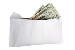 Envelop van Contant geld Stock Afbeelding