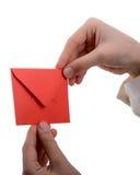 Envelope à disposição Foto de Stock