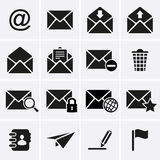 Envelope, ícones do email Foto de Stock Royalty Free