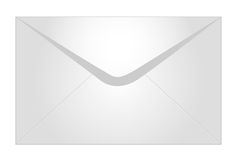 Envelope. Isolated against white background stock illustration