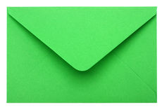 Envelope. Green envelope isolated on white background Royalty Free Stock Images