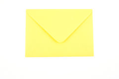 Envelope. Close-ups of yellow envelope isolated on white royalty free stock photography