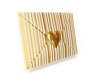 Envelope. Close striped envelope with heart isolated stock illustration