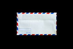 Envelope. Back side of envelope isolated on black royalty free stock image