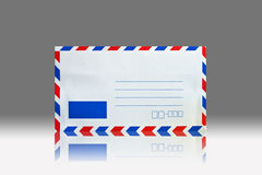 Envelope. Front side of envelope isolated on black stock image